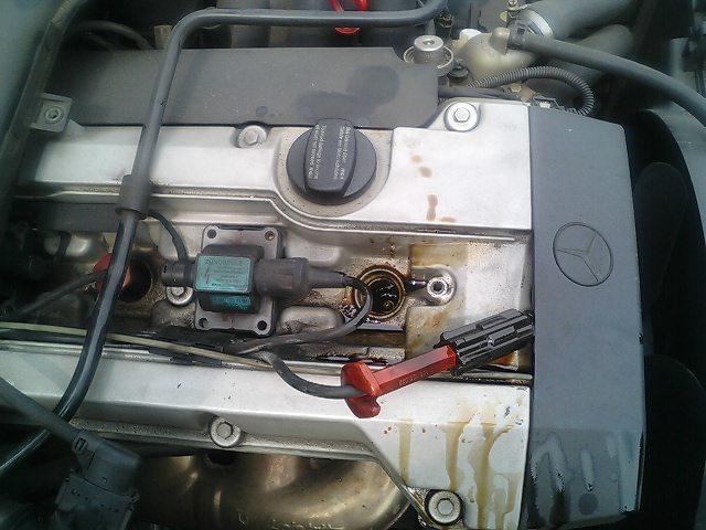 メルセデスベンツW210オイル漏れ修理